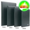 得力(deli)7901 25K 80页 黑色皮面笔记本(205 * 143mm)