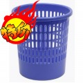 赞扬 83010 圆形纸篓 塑料垃圾桶 直径26.5cm