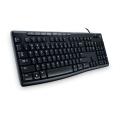 罗技(Logitech)K200 多媒体键盘 USB接口 多媒体控制 超薄外形 防泼溅 罗技有线键盘