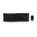罗技(Logitech)MK270 无线键鼠套装 无线键盘 配有微型罗技 Unifying® nano 接收器 8个热键