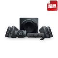 罗技(Logitech)Z906 环绕立体声音箱系统  500瓦功率 专业THX认证 内置5.1声道杜比音效 DTS编码音轨 可连接6种音频设备(电视、DVD、DVR、XBox360、PlayStation3、Wii、iPod等) 控制台带显示屏