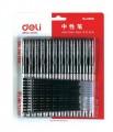 得力(deli) 6608 0.5mm 黑色中性笔 12支笔中性笔+12支笔芯 水笔