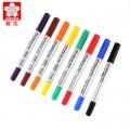 樱花(Sakura)4410 小双头油性记号笔(黑色 蓝色 红色 绿色 紫色 黄色 橙色 咖啡色)