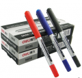 得力S656直液式水性走珠笔签字笔考试笔办公中性笔黑色0.5mm(黑色 蓝色 红色)