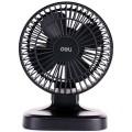 deli得力电风扇 USB风扇 风量可调2档风量 6寸 高21cm 3687 桌面风扇 黑白颜色随机