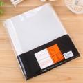 树德11孔文件文件袋 A4文件保护袋 EH303 100只/包 活页资料册替换芯 加厚透明文件袋子