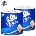 维达卷筒纸 蓝色经典1400 有芯卷纸 140g 3层 10卷/提 维达卷纸 卷筒卫生纸
