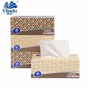 维达抽纸 盒装抽纸 双层 200抽 3盒/提 盒抽抽取式面巾纸 小碎花风格 倍韧细腻 自然无香