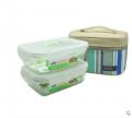 乐扣乐扣饭盒 2件套装带便当包 426耐热玻璃保鲜盒 饭盒 便当盒 套装饭盒便当包